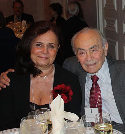 Mészáros Judit és Paul Ornstein a díjátadón