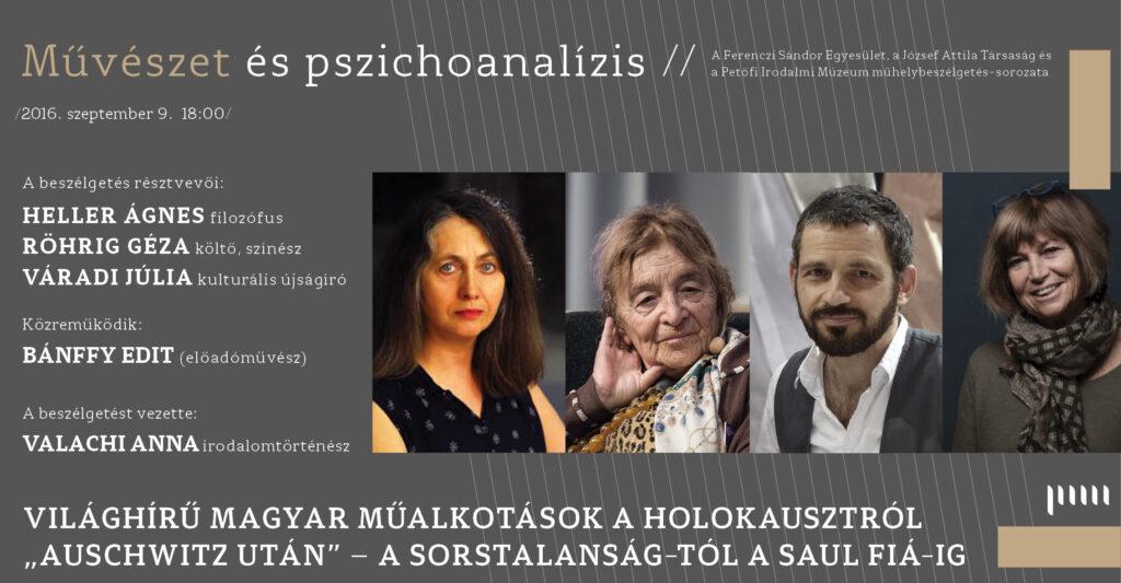 """Művészet és pszichoanalízis- archiv -""""Auschwitz után"""""""